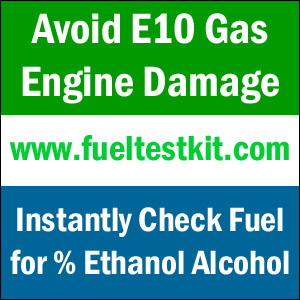 Avoid E10 Gas Engine Damage - Instantly check fuel for alcohol presence and percent.