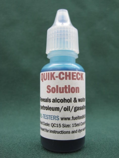 Picture Quik-Check solution available sizes dropper bottle.