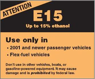 E15 is now being sold in several states. View e15 news/updates.
