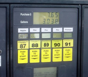 E10 gas is available at all octane levels, 87,88,89,90,91 and higher.
